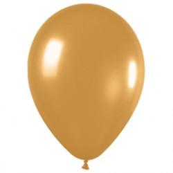 Шар 13 см Золото металлик