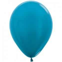 Шар 13 см Карибский голубой металлик