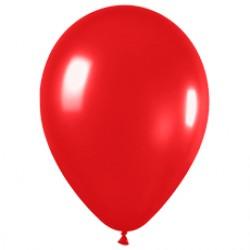 Шар 13 см Красный металлик