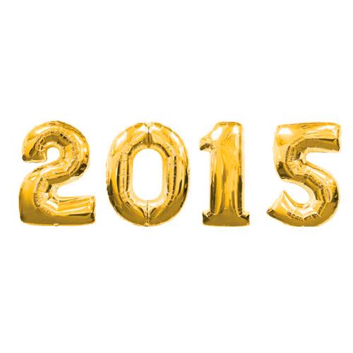 Надпись из шаров 2015 с воздухом