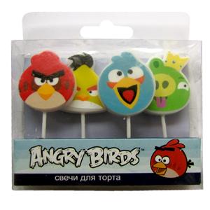Свечи Angry Birds 4 шт