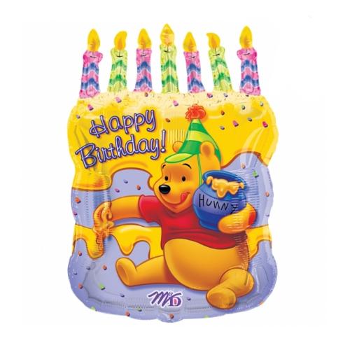 Шар 80 см Винни торт и свечи