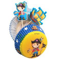 Бумага и украшения для кесов Маленьк Пират 24 шт