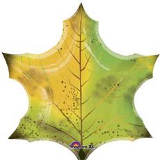 Шар 74 см Фигура Лист кленовый зеленый