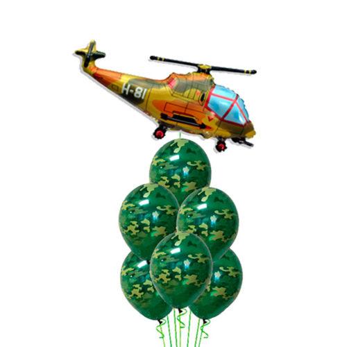 Связка хаки с вертолетом из воздушных шаров