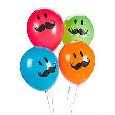 Усатый набор из 4 разноцветных воздушных шаров