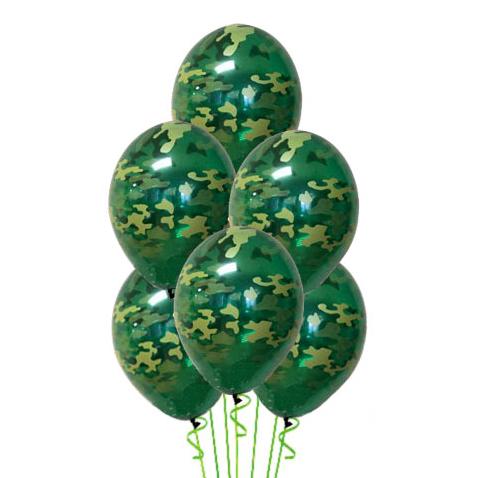 Связка камуфляж из 6 воздушных шаров