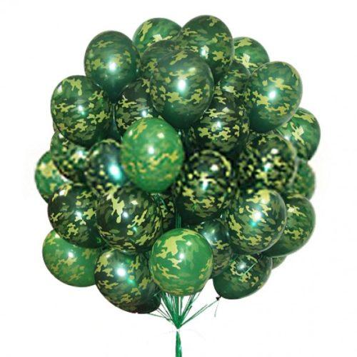 Связка камуфляж из 50 воздушных шаров