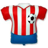 Шар 66 см Фигура Футболка красно-белая