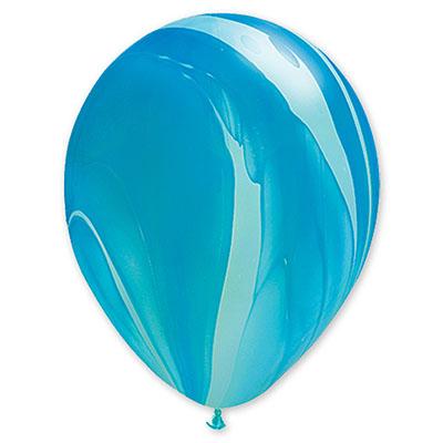 Шар 30 см Супер Агат Голубой
