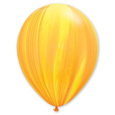 Шар 30 см Супер Агат Желтый Оранжевый Пастель