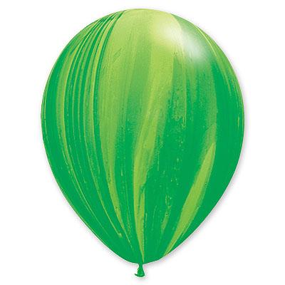Шар 30 см Супер Агат Зеленый