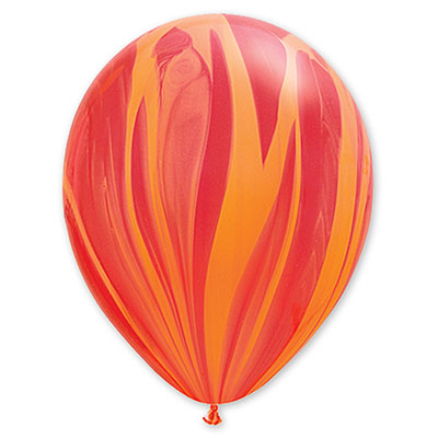 Шар 30 см Супер Агат Красный Оранжевый Пастель