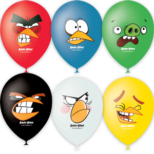 Шар 30 см Angry Birds Faces