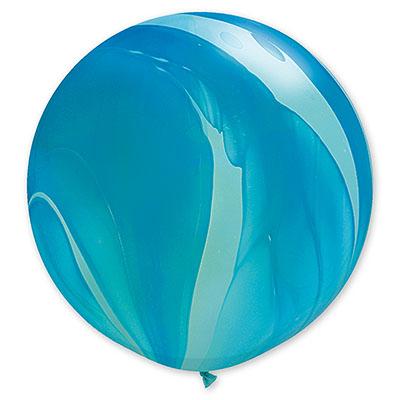 Шар 70 см Супер Агат Голубой