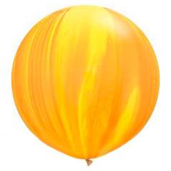 Шар 70 см Супер Агат Желтый Оранжевый Пастель