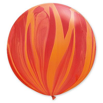 Шар 70 см Супер Агат Красный Оранжевый Пастель