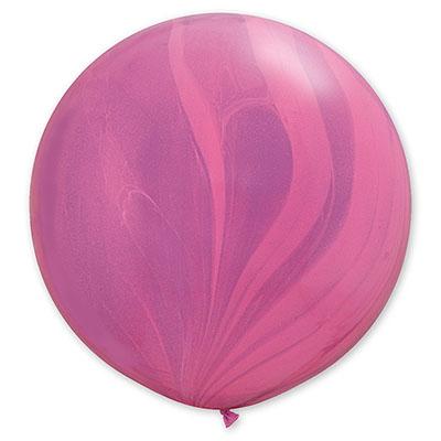 Шар 70 см Супер Агат Розовый Фиолетовый Пастель