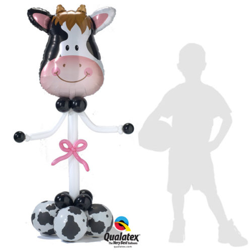 Корова - колонна из воздушных шаров