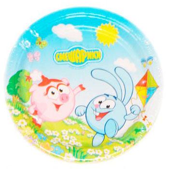Тарелка бумажная 17 см Смешарики 8 шт