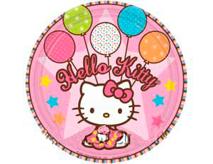 Тарелка бумажная 17 см Hello Kitty 8 шт
