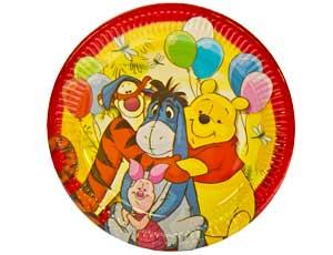 Тарелка бумажная 23 см Винни Пух и друзья 8 шт
