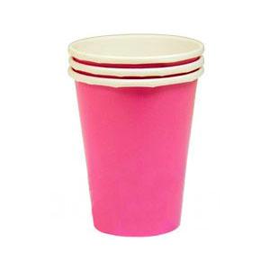 Стакан бумажный Ярко-розовый Bright Pink 8 шт