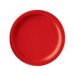 Тарелка бумажная 17 см Красная Apple Red 8 шт