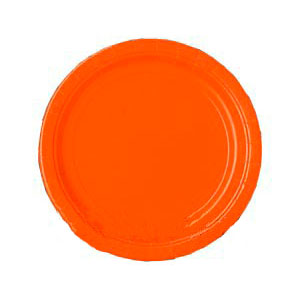 Тарелка бумажная 17 см Оранжевая Orange Peel 8 шт