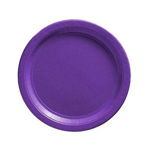 Тарелка бумажная 17 см Фиолетовая Purple 8 шт