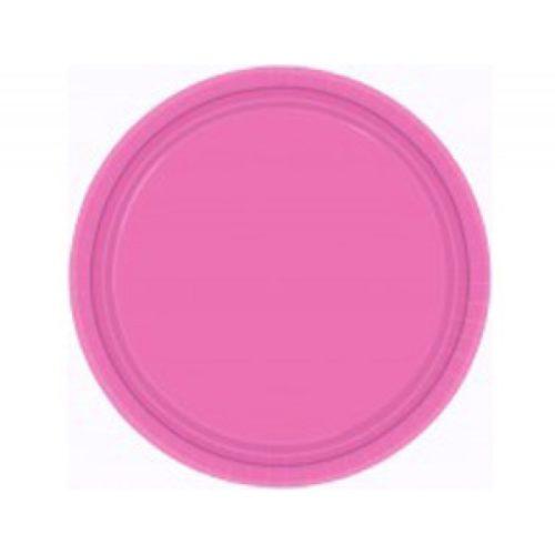 Тарелка бумажная 17 см Ярко-розовая Bright Pink 8 шт
