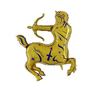 Шар 122 см Фигура Стрелец золотой
