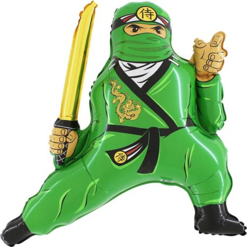 Шар 81 см Фигура Ниндзя Зеленый