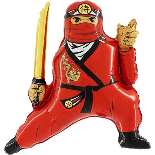 Шар 81 см Фигура Ниндзя Красный