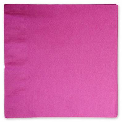 Салфетки 33 см Ярко-розовая Bright Pink 16 штук