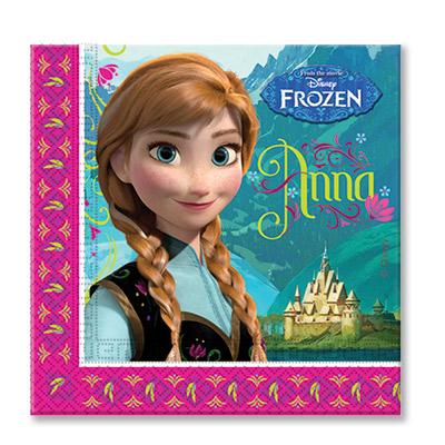 Салфетки 33 см Frozen Холодное Сердце 20 штук