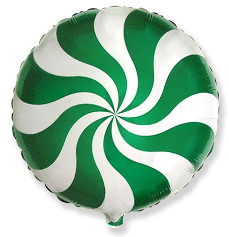 Шар 46 см Круг Леденец Зеленый