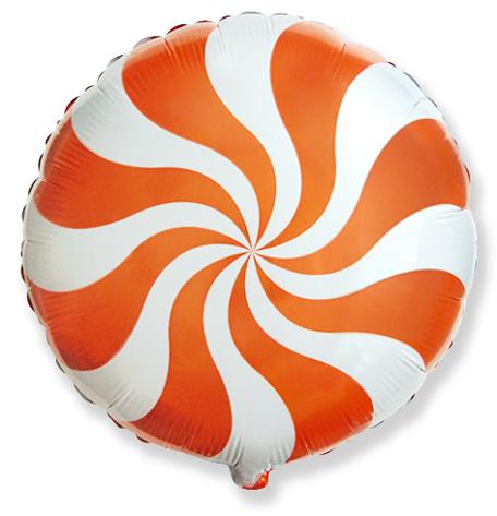 Шар 46 см Круг Леденец Оранжевый