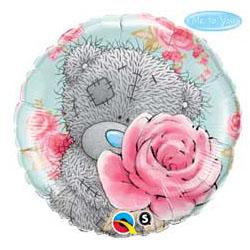 Шар 46 см Круг Me To You Розы розовые