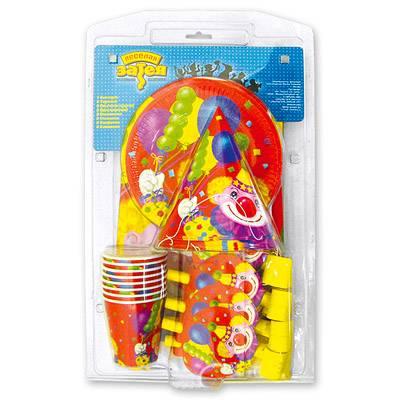 Набор для праздника Клоун с шарами на 8 персон