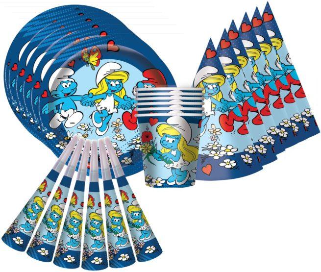 Набор для праздника на 6 персон Смурфики 24 предмета