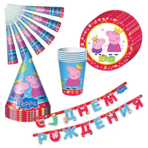 Набор посуды Пеппа-принцесса Peppa Pig 25 предметов