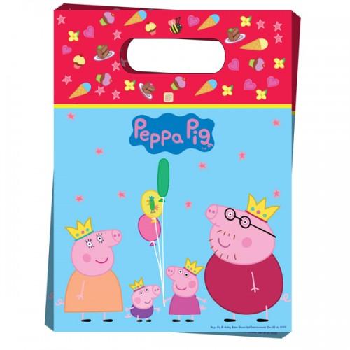 Пакет для подарков Пеппа-принцесса 6 шт