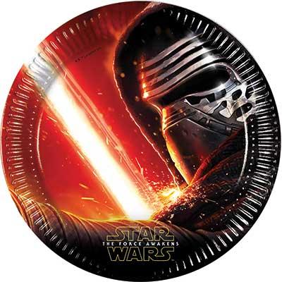 Тарелка 23 см Звездные войны 7 8шт