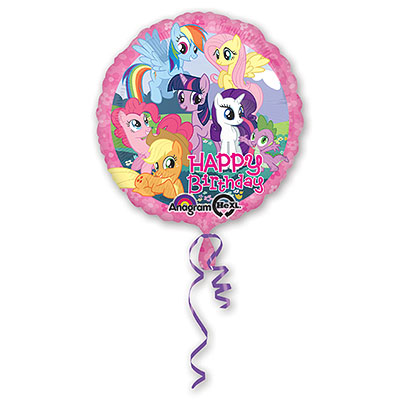 Шар 46 см Круг С Днем рождения My Little Pony