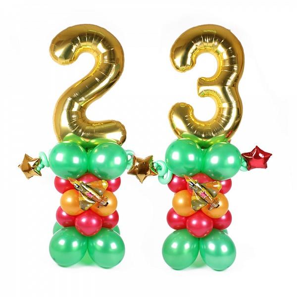 23 на стойках с истребителями из воздушных шаров
