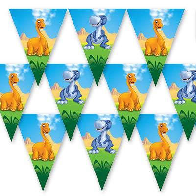 Гирлянда-вымпел Динозаврики 360 см