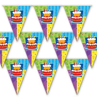 Гирлянда-вымп Торт Birthday 360 см