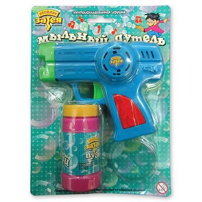 Игрушка с мыльными пузырями Пистолет музыкальный