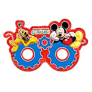 Карнавальные маски бумажные Микки Маус 6 штук